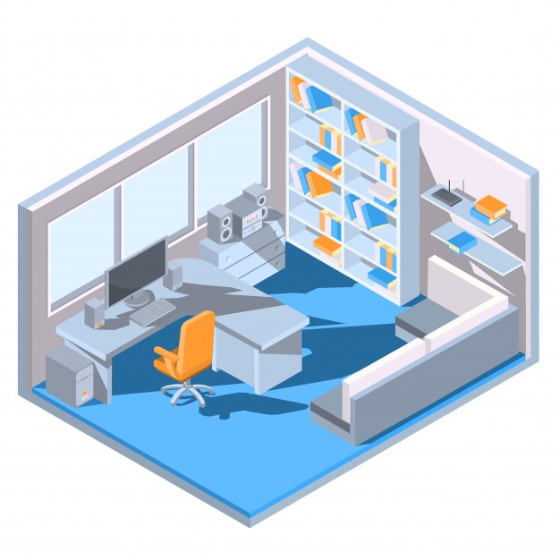 vector-isometric-design-of-a-home-office_1441-248